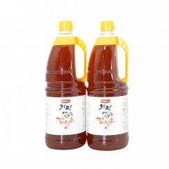 지금먹을때 가장 맛있는 감식초 [천연발효식초] 1.8ℓ × 2병